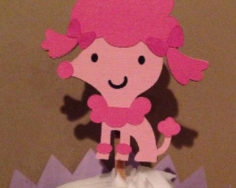 Poodle Cupcake Topper