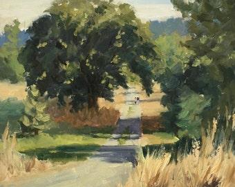 Giant Oak - Original contemporary Landscape painting - Oil Painting