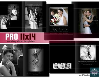 PRO 11x14 Wedding Album Photoshop Templates