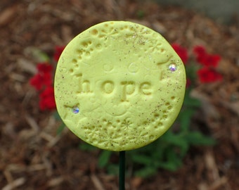 Miniature Fairy Garden Sign! Hope Sign in Yellow