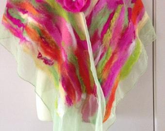 Pretty        nunu felted shawl