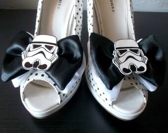 Nerdy Star Wars Stormtrooper Double Bow Shoe Clips