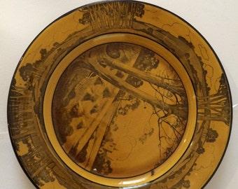 Early 1900s antique Royal Doulton England burslem decorative wall plates