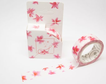 masking tape 15mm x 7m pink blossoms