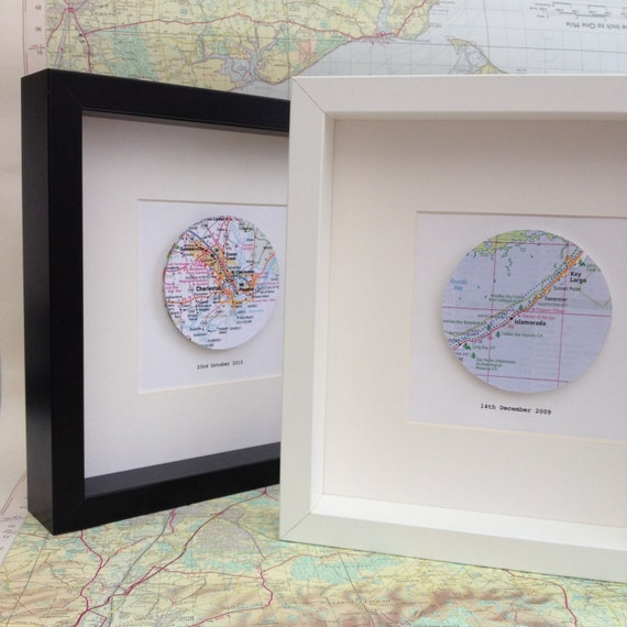 Wedding Gift Framed Art : Map artframed artworkwedding giftcustom map art ...