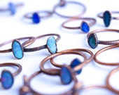Opal stacking ring   Gemstone ring   Fiery opal ring   Stackable opal ring   Simple opal ring   Organic opal ring   Opal stackable ring