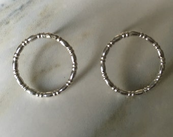 Dot and Dash Circle Earrings