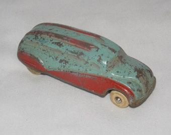 Antique Rubber Toy Bus