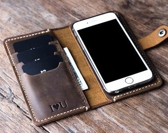 iPhone 8 Case PERSONALIZED, iPhone 8 Wallet Case, Phone Wallet, Leather iPhone Case, iPhone 7, 7PLUS, 6, 6s, 6PLUS, 6s Plus, SE, iP5 #056