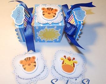 10 Noah's Ark candy box, Noah's Ark baby shower favor box, Noah's Ark baby shower tags, Noah's Ark Baby Shower Party Supplies