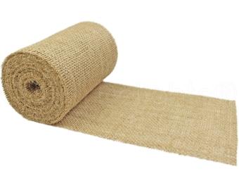 "10 Yards - 6"" Burlap Roll - Unfinished Edges - Eco-Friendly Natural Jute Burlap Fabric - 30 Feet - Premium Rustic Burlap Table Runner"
