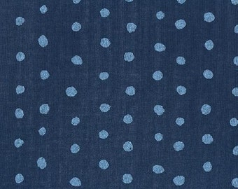 "Nani Iro ""Pocho"" Cotton Double Gauze - Navy"
