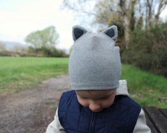 Toddler's Cat Hat, Cat Beanie with ears