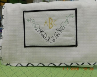 Custom Monogram Sewing Machine Cover