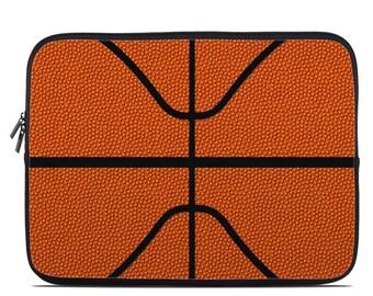 Laptop Sleeve Bag Case - Basketball - Neoprene Padded - Fits MacBooks + More