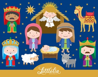 Nativity clipart - Christmas clipart - 15076