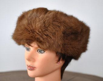 Vintage RABBIT FUR HAT , vintage hat....(007)