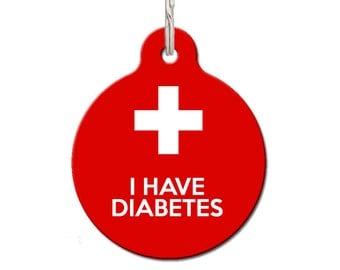 I Have Diabetes Pet ID Tag - Medical Pet Tag | FREE Personalization