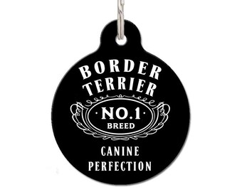 Border Terrier Breed Dog ID Tag | FREE Personalization