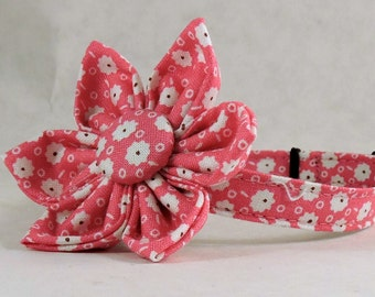 Cat Collar or Kitten Collar with Flower or Bow Tie - Storybook