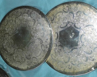 Vintage Silver Plated Table Mats