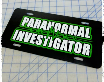 Paranormal Investigator Custom License Plate