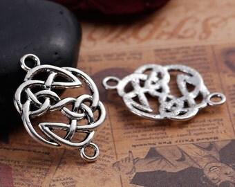 Antiqued Tibetan Silver Celtic Design Connectors