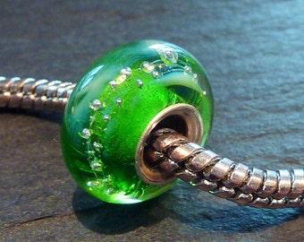Lampwork Glass Bead SRA fits all kinds of european charm bracelets BHB fully cored, isglasperlenkunst