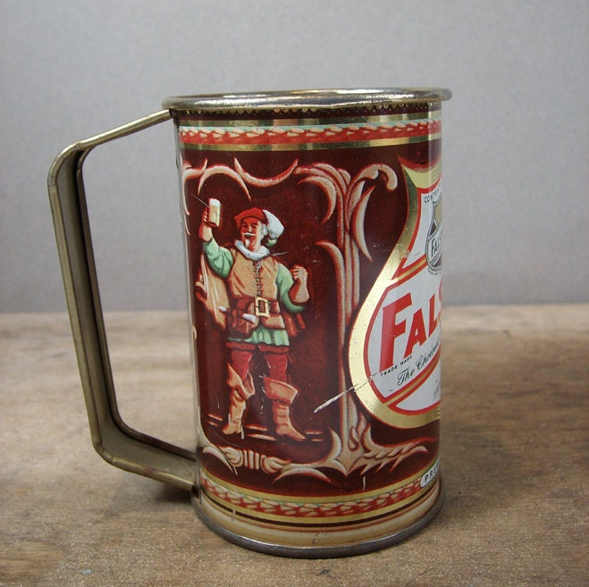Vintage Falstaff Beer Tin Mug St. Louis 1940s