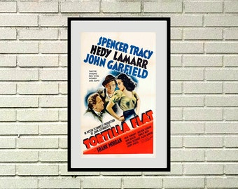 "Reprint of a Vintage 1940s Movie Poster - ""Tortilla Flats"""