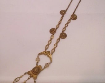 Vintage Collection - Greek/Etruscan Reproduction metal Necklace