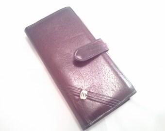 Vintage Brown Leather Wallet by Oleg Cassini