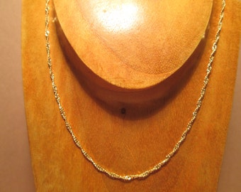 Vintage 18K Gold filled Delicate Necklace at 16""