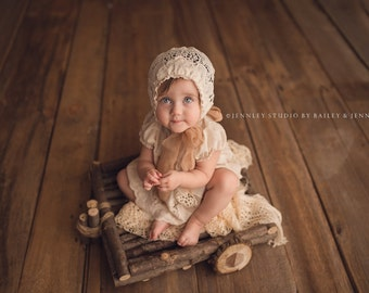 Newborn Photo Prop, Rustic Wagon Newborn Photography Prop, Newborn Wagon, Organic Prop