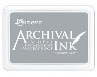 SHADOW GREY Archival Ink Pad by Ranger