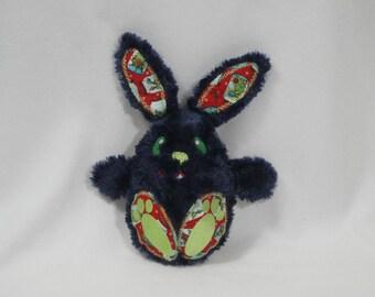 Bunny Rabbit Stuffed Toy/ Stocking Stuffer/ Stuffed Animal/ Plushie/ Bunny Softie/ Bunny Peekaboo/ Reversible/ Peekaboo Rabbit