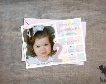 Pastels Invitation (25 Invitations)
