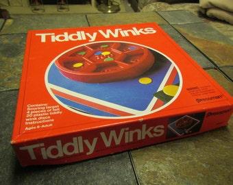 vintage PRESSMAN TIDDLY WINKS Game : 1978