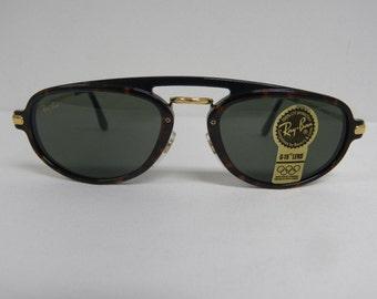 New Vintage B&L Ray Ban Traditionals Tortoise Black G-15 Premier W1541 Sunglasses USA