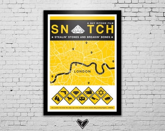 Snatch Movie Poster A3 - A Guy Ritchie Film