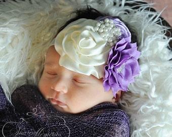Lavender Headband/Flower Girl Headband/Baby Headband/Infant Headband/Newborn Headband/Toddler Headband/Girls Headband/Girls Headband