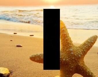 light switch plate, beach art, beach sunset, star fish, beach decor, sandy art, nautical art, nautical decor, wall art, Home decor, USA made