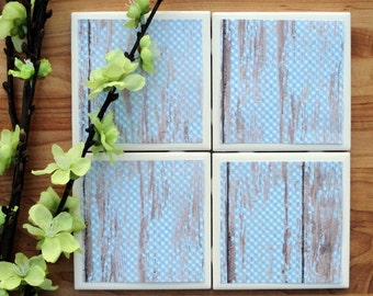 Tile Coasters - Ceramic Coasters - Ceramic Tile Coasters - Coaster Set - Table Coasters - Blue Coasters - Coaster - Tile Coaster