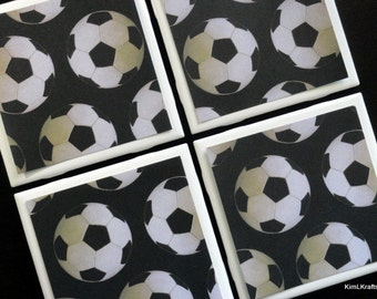 Drink Coasters - Tile Coasters - Ceramic Coasters - Ceramic Tile Coasters - Soccer Coasters - Coaster - Tile Coaster - Coasters for Drinks