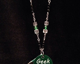 Geek chic circuit board necklace