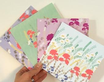 Notecards 8 pack - Meadowfields