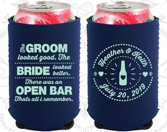 The Groom Looked Good, The Bride Looked Better, Neoprene Wedding, There was an Open Bar, that all I remember, Neoprene Wedding Favors (253)