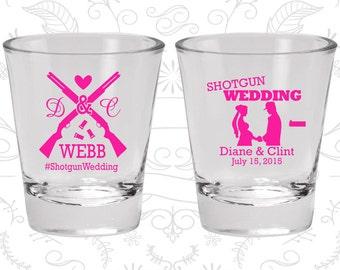 Shotgun Wedding Shot Glasses, Custom Shot Glass, Country Shot Glasses, Southern Wedding, Redneck Shot Glasses, Wedding Shot Glasses (562)