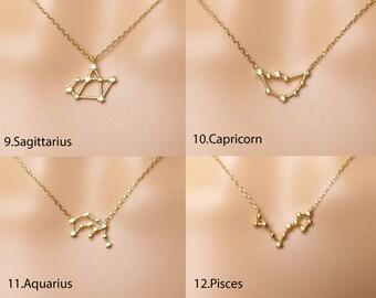 Zodiac necklace,Constellation Necklace,Zodiac gemini,Constellation Jewelry,Gift idea,zodiac jewelry