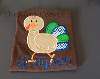 Personalized turkey shirt! Perfect for Thanksgiving!